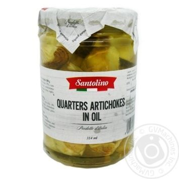 Артишоки четвертинками в олії консервовані пастеризовані Santolino 180мл - купить, цены на Novus - фото 1
