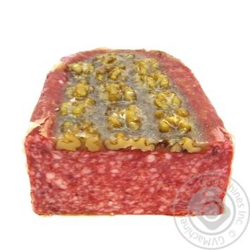 Колбаса Casaponsa Салями Чапата с грецким орехом сыровяленая