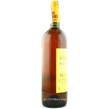 Вино біле Масандра Мускат Таврійський ординарне кріплене десертне солодке 16% скляна пляшка 750мл Україна - купити, ціни на Ашан - фото 2
