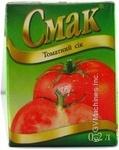 Сік Смак томат 200мл тетрапакет Україна