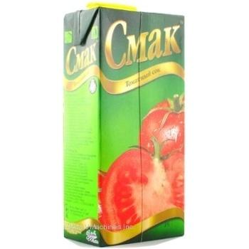 Сок Смак томатный восстановленный тетрапакет 1000мл Украина - купить, цены на Novus - фото 6