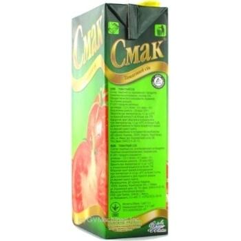 Сок Смак томатный восстановленный тетрапакет 1000мл Украина - купить, цены на Novus - фото 5