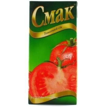 Сок Смак томатный восстановленный тетрапакет 1000мл Украина - купить, цены на Novus - фото 8