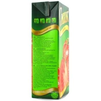 Сок Смак томатный восстановленный тетрапакет 1000мл Украина - купить, цены на Novus - фото 7