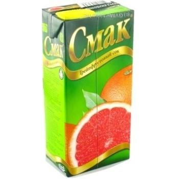 Сок Смак грейпфрутовый восстановленный тетрапакет 1000мл Украина