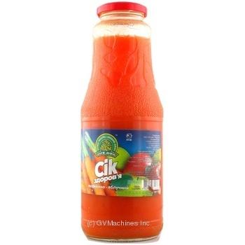 Сок Дары Ланив Здоровье морковно-яблочный стерилизованный стеклянная бутылка 1000мл Украина - купить, цены на Novus - фото 3