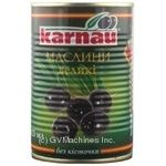 olive Karnau black pitted 425g can Spain