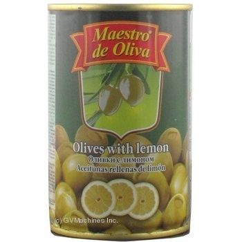 Maestro de Oliva Green Olives with lemon 300ml - buy, prices for Novus - image 3