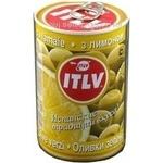 Оливки ITLV зеленые с лимоном 314м