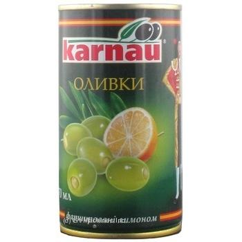 Оливки Kаrnau фаршировані Лимон 350г