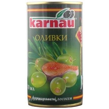 Оливки Kаrnau фаршировані Лосось 350г
