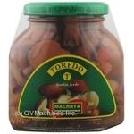 Mushrooms milk mushroom Toredo pickled 314ml glass jar Thailand