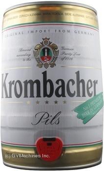 Пиво Кромбахер Пилс классическое светлое 4.8%об. 5л