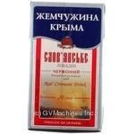 Wine Slavyanskaya red strong 18% 1000ml tetra pak Ukraine