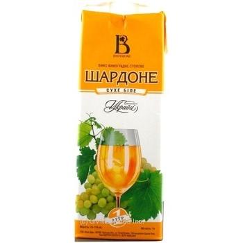 Вино Винлюкс Шардоне белое сухое 13% 1л