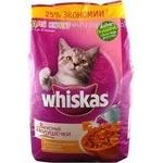 Корм для котів сухий Whiskas Смачні Подушечки з Молоком 2,4кг