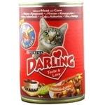 Консерва для котів Darling М'ясо,Кукурудза 400г