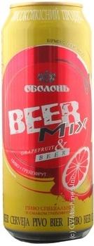 Beer Beermix grapefruit 2.6% 500ml can Ukraine