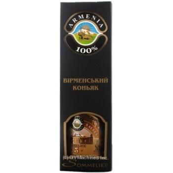 Коньяк Great Valley Армянский 5 звезд 42% 0,5л в коробке - купить, цены на Novus - фото 1