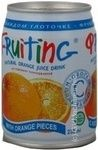 Non-alcoholic non-carbonated juice-containing drink of orange juice Fruiting can 238ml Russia