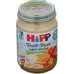 Puree Hipp Fruit-Duet yoghurt with fruit for 7+ months babies glass jar 160g Austria