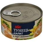 Fish tuna B&k in sauce 185g can Poland