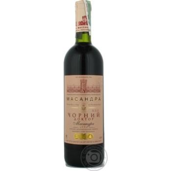 Вино червоне десертне Марочне Чорний доктор Масандра 0,75л
