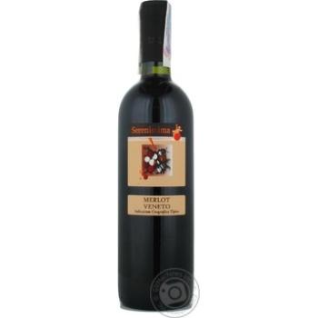 Вино мерло Серениссима красное сухие 11% 750мл Италия
