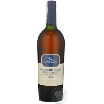 Вино біле міцне Портвейн Кримський Бахчисарай 0,75л