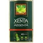 Абсент Ксента с 2-мя стаканами и ложкой 0,7л
