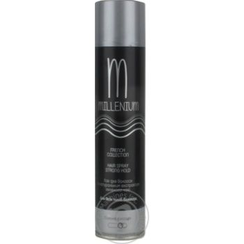 Лак Millenium French Collection с экстрактом зеленого чая для всех типов волос сильная фиксация 250мл - купить, цены на Метро - фото 1