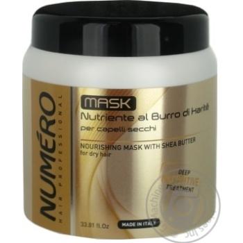 Маска для живлення волосся з олією каріте Brelil Numero 1л