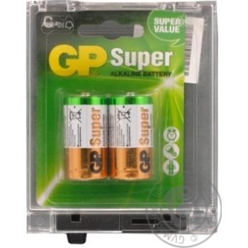Батарейки GP Super Alkaline 1.5V C 2шт - купить, цены на Метро - фото 2