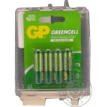 Батарейки GP Greencell 1.5V AA 4шт - купить, цены на Метро - фото 2