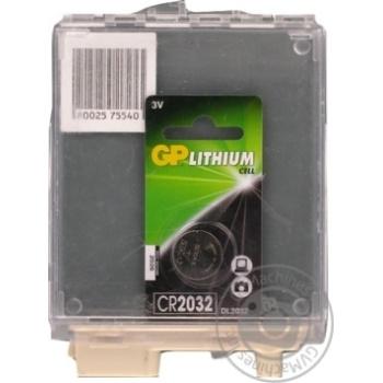 Батарейка GP CR2032-U Lith 1шт - купить, цены на Метро - фото 1