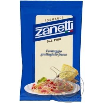 Сыр Zanetti Formaggio grattugiato fresco твердый тертый микс 100г