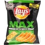 Чіпси Lays's Max сир і цибуля 50г