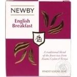 Чай чорний Англійський сніданок English Breakfast Newby картонна коробка 100г