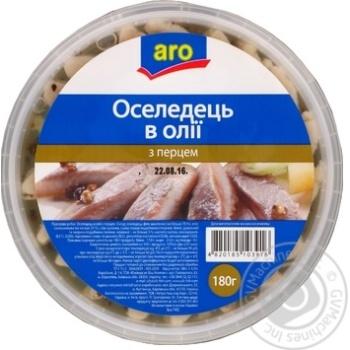 Скидка на Селедка Aro в масле с перцем 180г