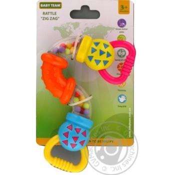 Игрушка-погремушка Baby Team Зигзаг