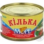 Килька Море черноморская неразделанная в томатном соусе 230г