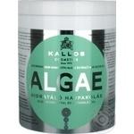 Маска для волос Kallos Algae увлажняющая с экстрактом водорослей и оливковым маслом 1л