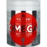 Маска для волос Kallos Omega восстанавливающая с комплексом Омега-6 и маслом макадамии 1л