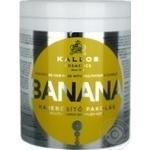 Маска для волос Kallos Banana укрепляющая с экстрактом банана и комплексом мультивитаминов 1л
