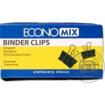 Біндери EconoMix  12шт 25мм - купити, ціни на Метро - фото 1