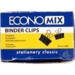 EconoMix Paper Binders 15mm 12pcs