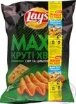 Чипсы Lay's Мaxx картофельные вкус сыра и лука 120г
