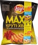 Чипсы Lay's Мaxx картофельные вкус курин крыл барб 62г