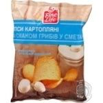 Чіпси Fine Life картопляні зі смаком грибів у сметані 65г