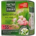 Чистая Линия Дневной крем для сухой кожи лица 55+ 45мл